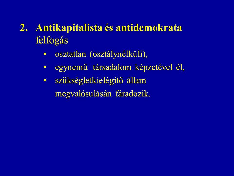 Antikapitalista és antidemokrata felfogás