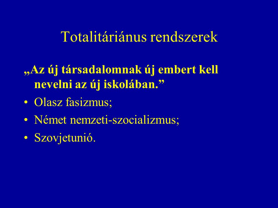 Totalitáriánus rendszerek