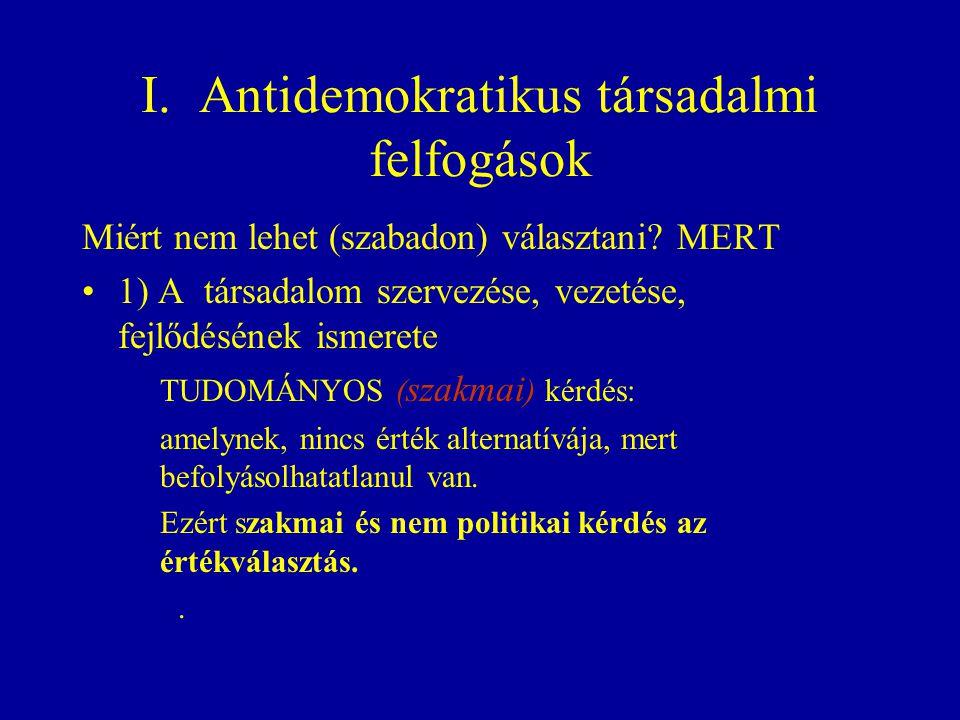 I. Antidemokratikus társadalmi felfogások