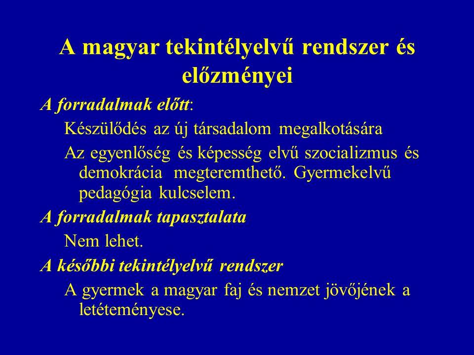 A magyar tekintélyelvű rendszer és előzményei