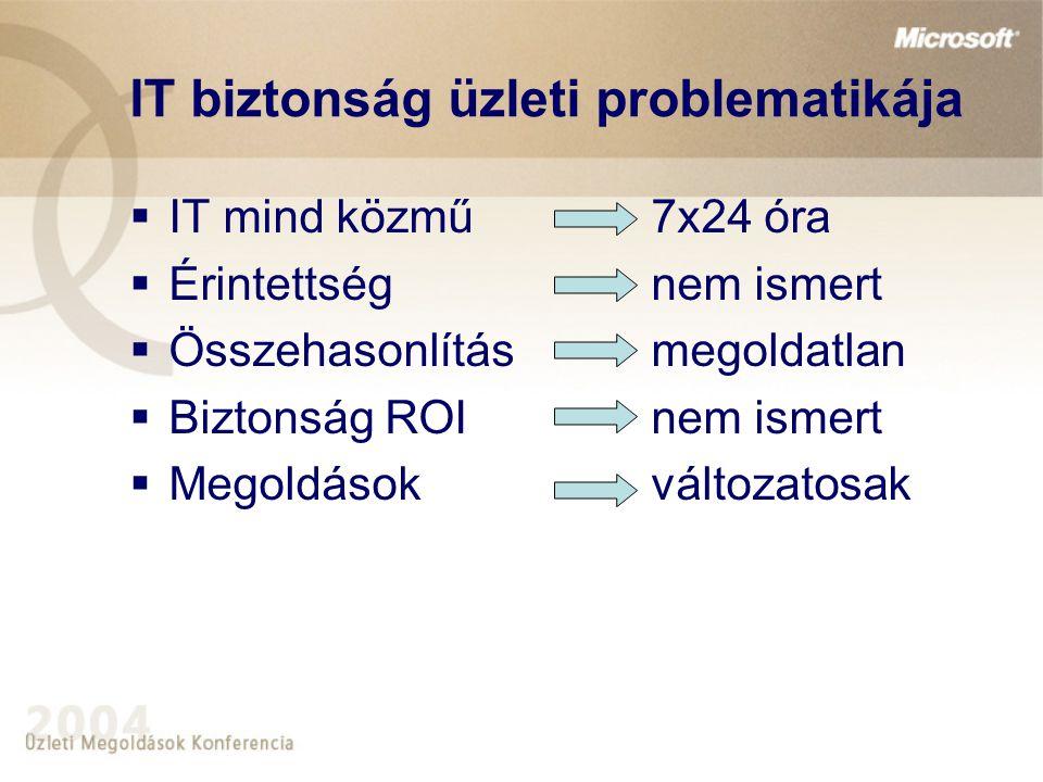 IT biztonság üzleti problematikája