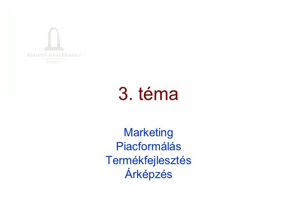 Marketing Piacformálás Termékfejlesztés Árképzés