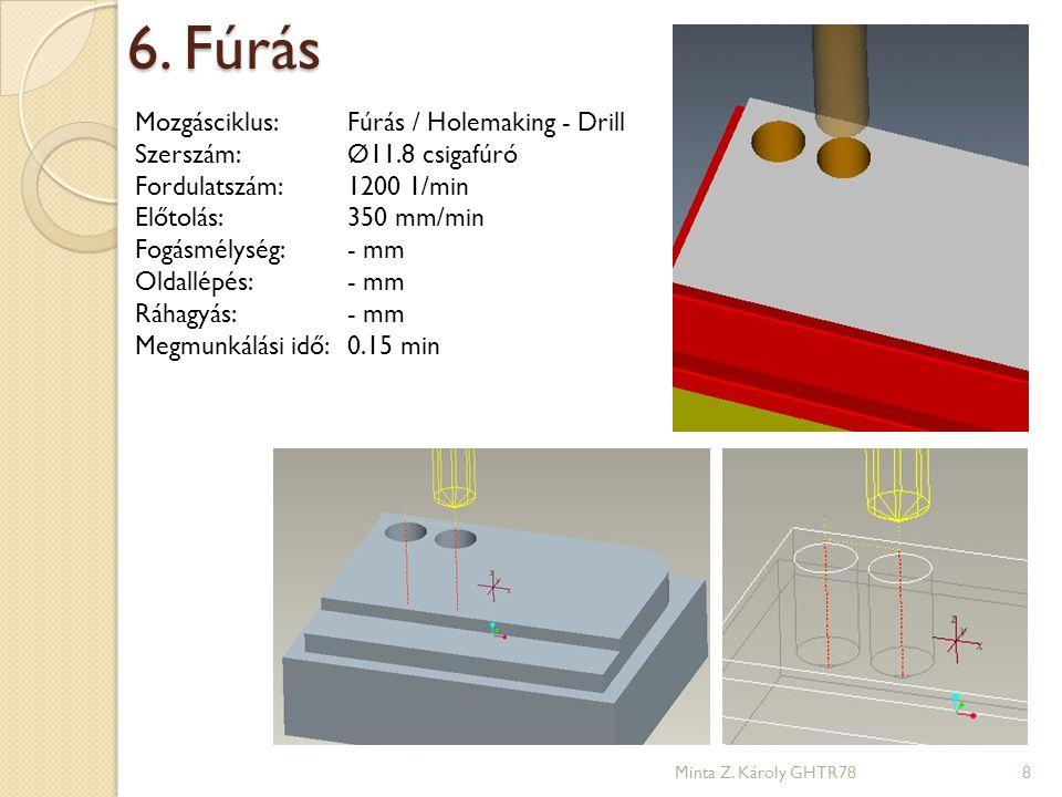 6. Fúrás Mozgásciklus: Fúrás / Holemaking - Drill
