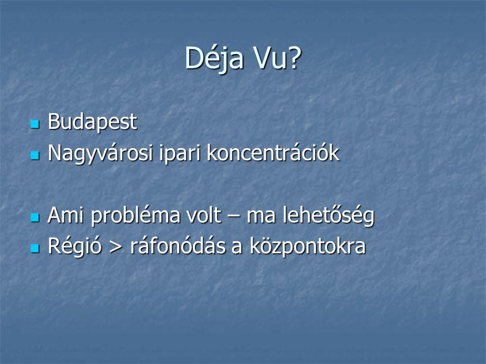 Déja Vu Budapest Nagyvárosi ipari koncentrációk
