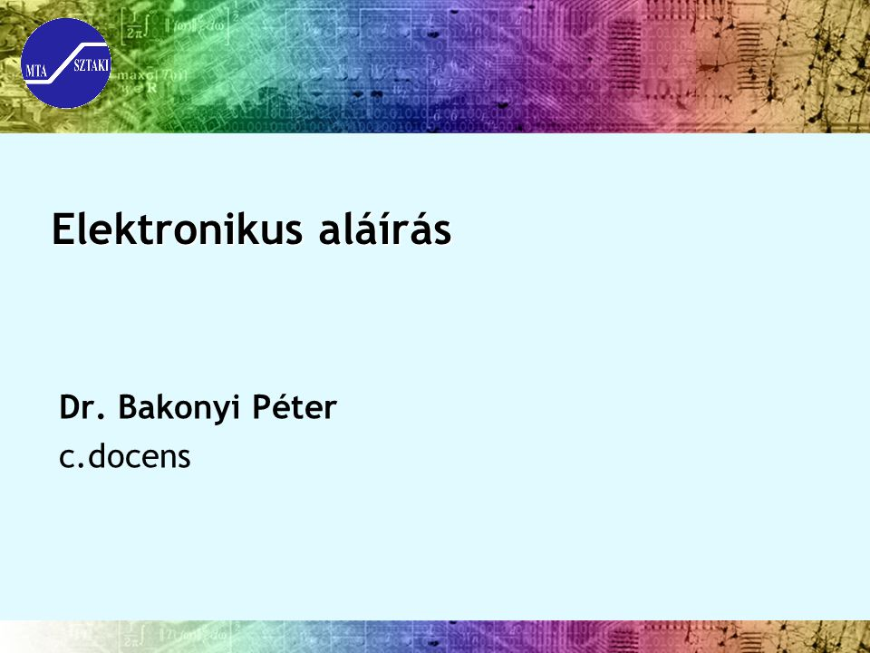Dr. Bakonyi Péter c.docens
