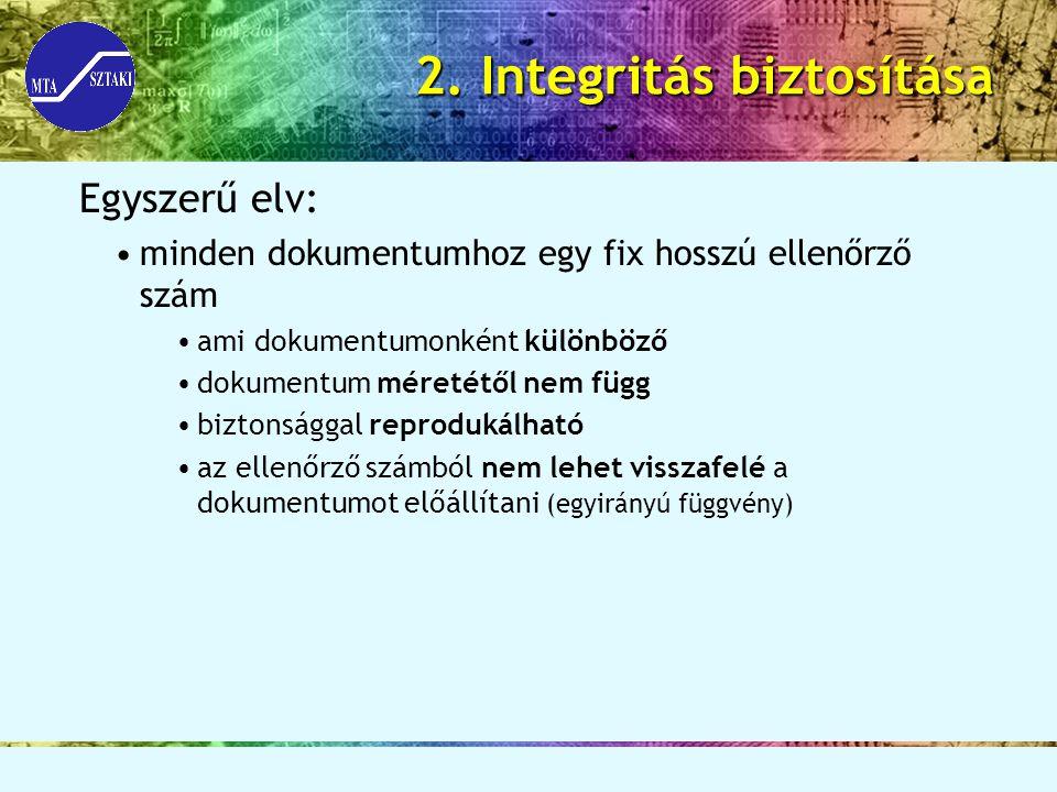 2. Integritás biztosítása
