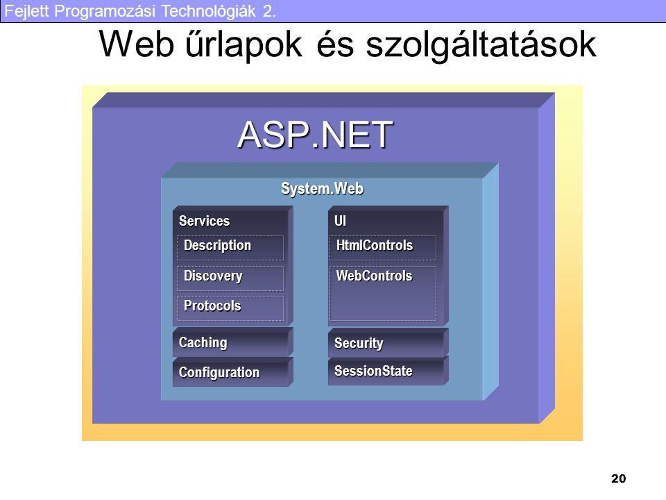 Web űrlapok és szolgáltatások