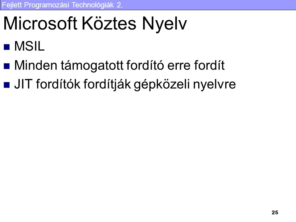 Microsoft Köztes Nyelv