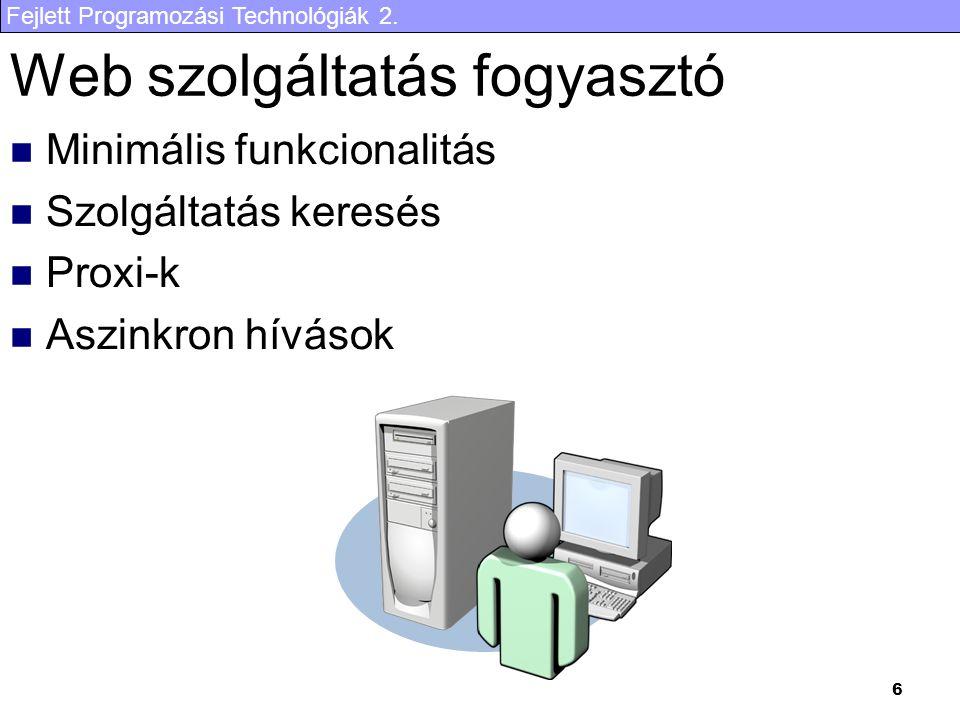 Web szolgáltatás fogyasztó