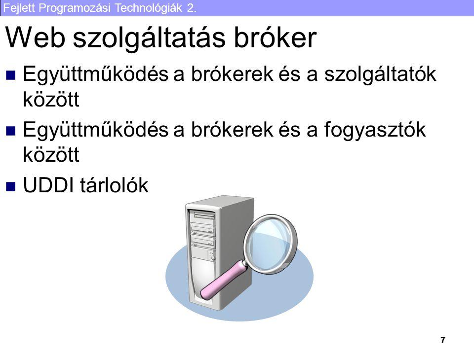 Web szolgáltatás bróker