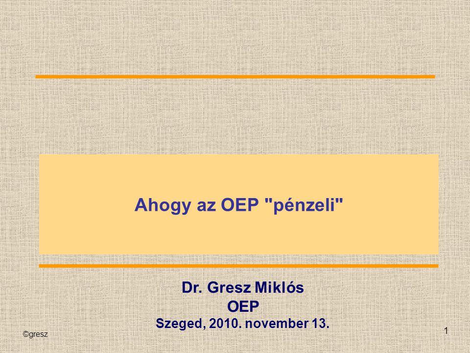 Ahogy az OEP pénzeli Dr. Gresz Miklós OEP Szeged, 2010. november 13.