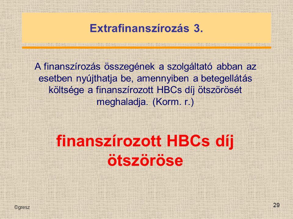 finanszírozott HBCs díj