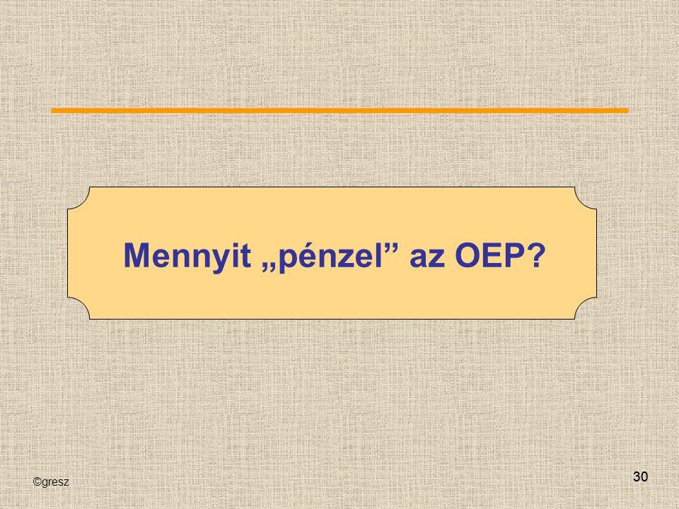 """Mennyit """"pénzel az OEP"""