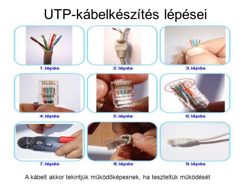 UTP-kábelkészítés lépései
