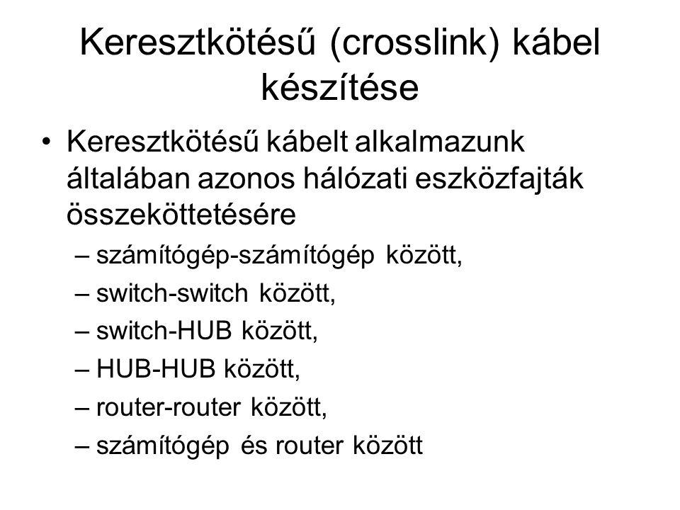 Keresztkötésű (crosslink) kábel készítése