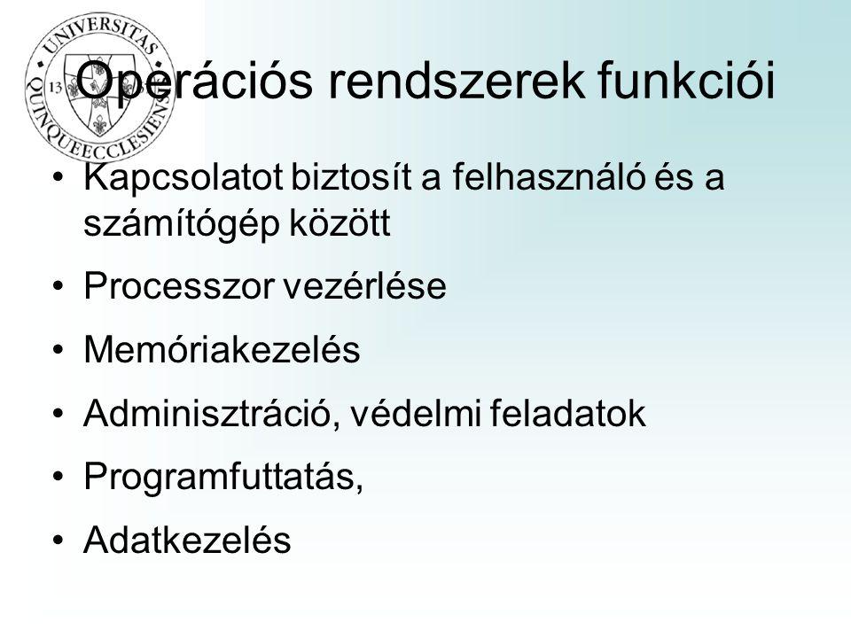 Operációs rendszerek funkciói