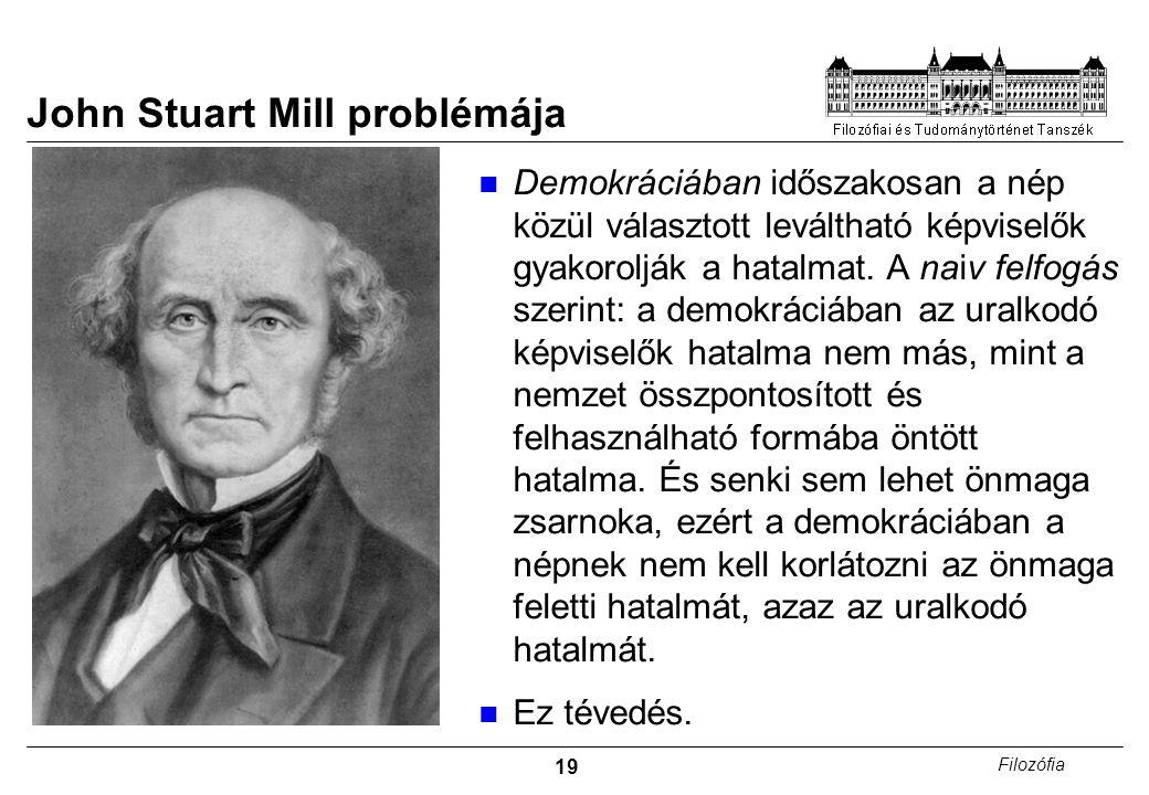 John Stuart Mill problémája