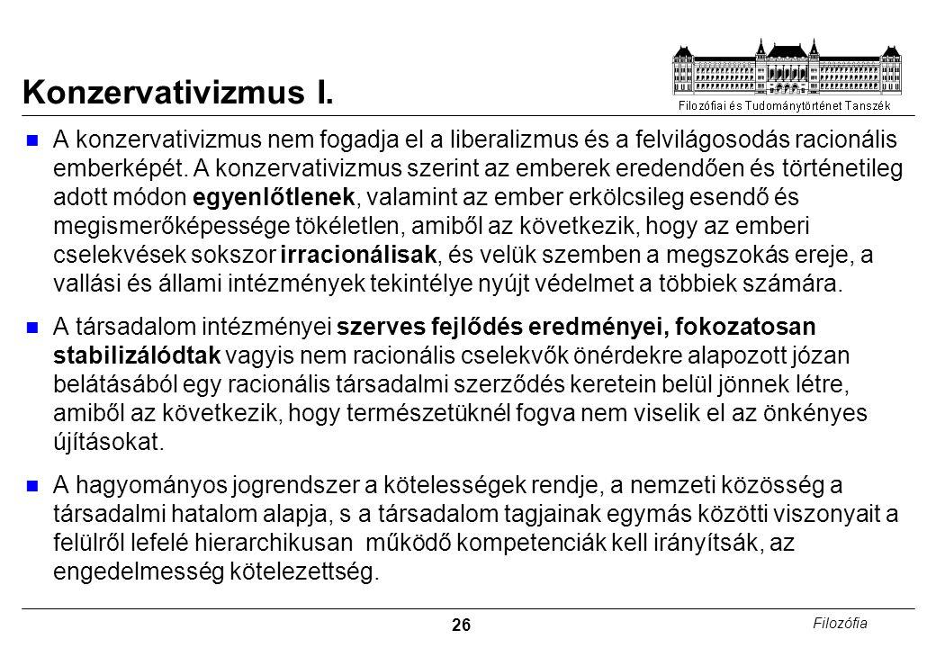Konzervativizmus I.