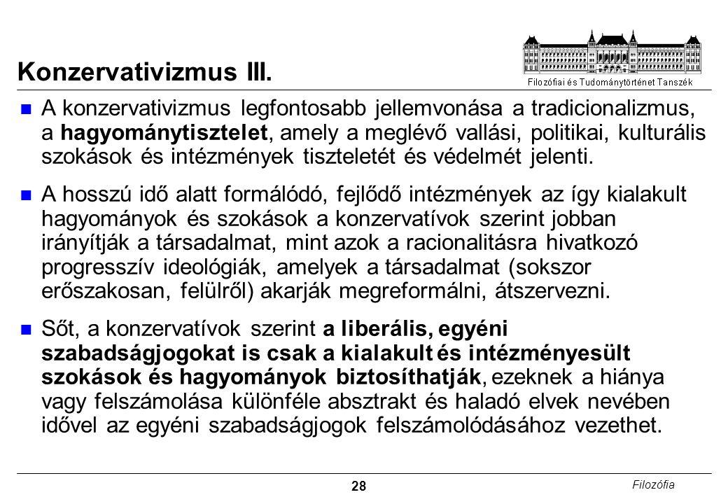 Konzervativizmus III.