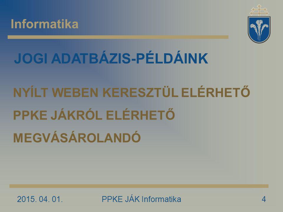JOGI ADATBÁZIS-PÉLDÁINK