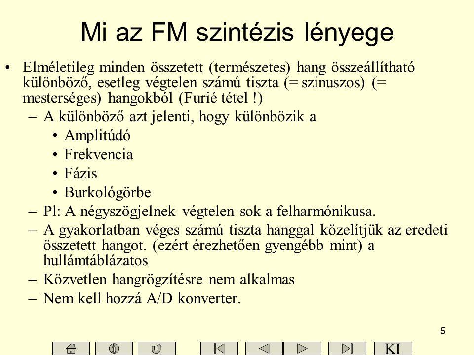 Mi az FM szintézis lényege