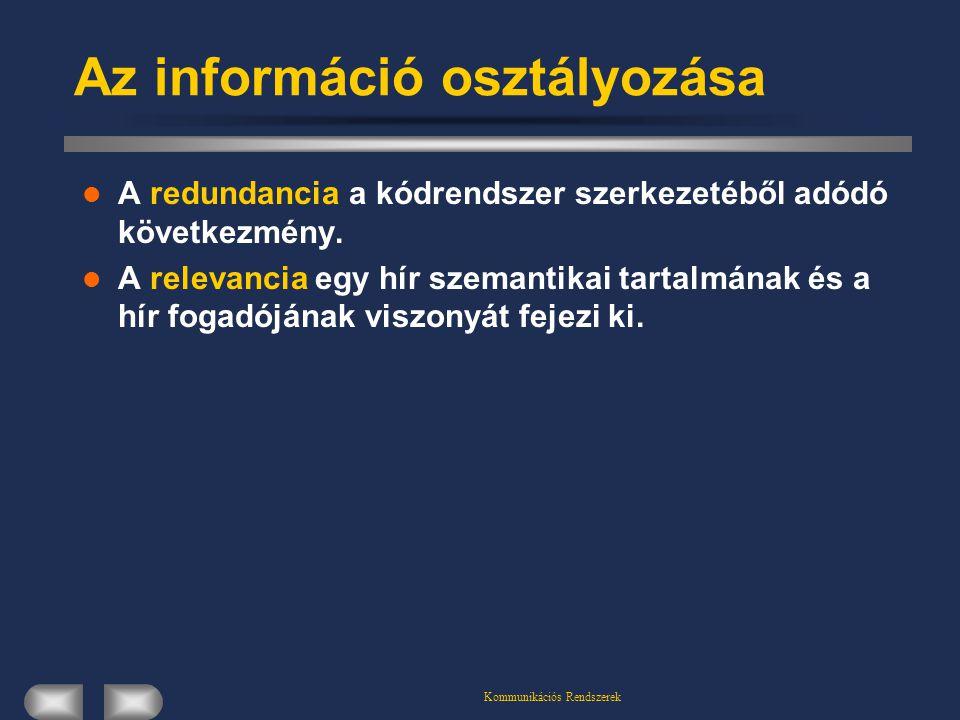 Az információ osztályozása