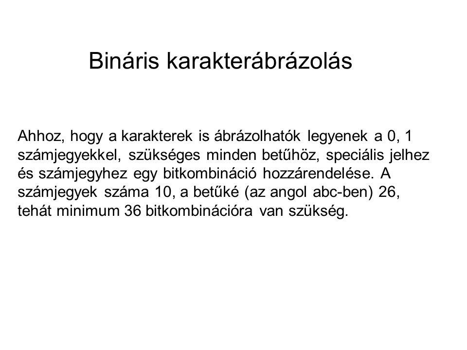 Bináris karakterábrázolás