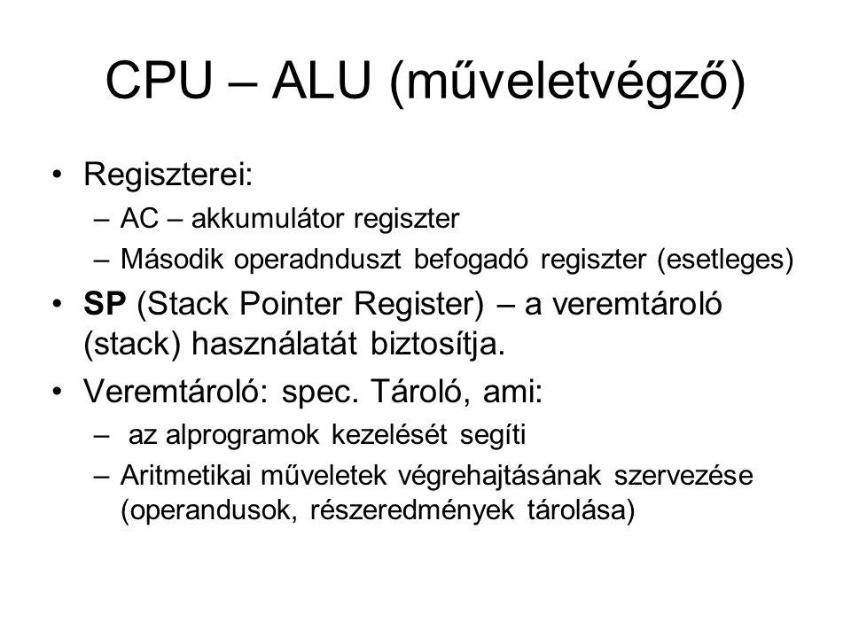 CPU – ALU (műveletvégző)