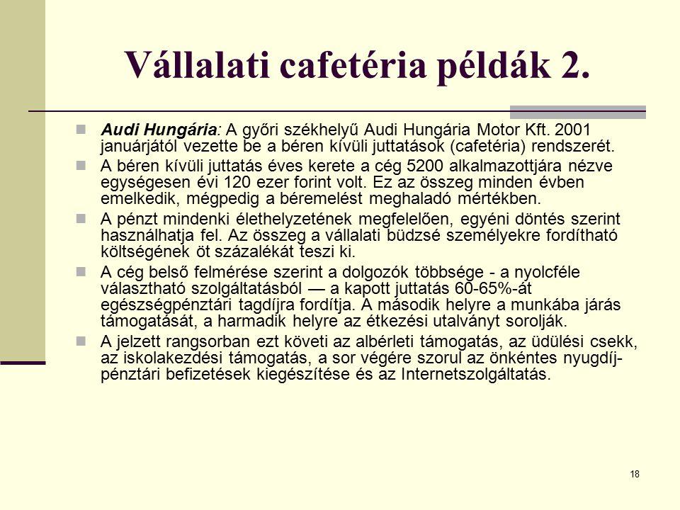 Vállalati cafetéria példák 2.