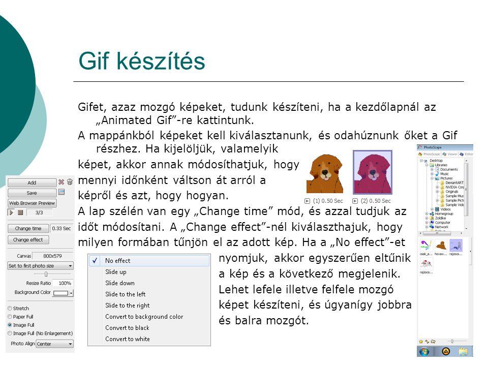 Gif készítés