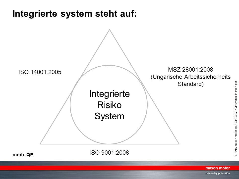Integrierte system steht auf: