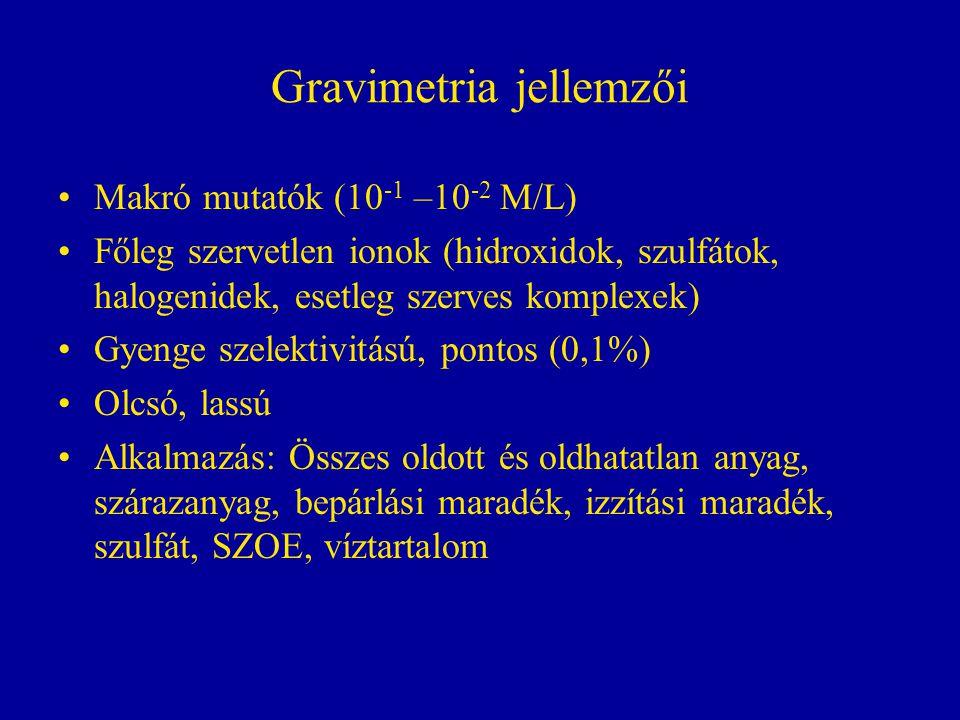 Gravimetria jellemzői