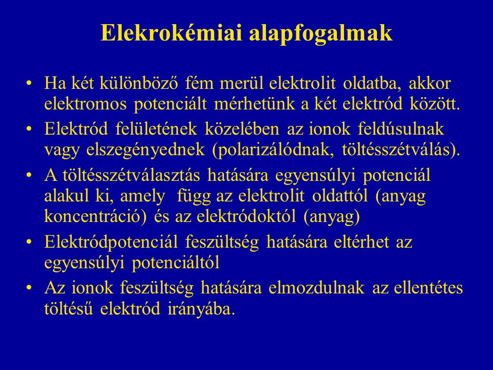 Elekrokémiai alapfogalmak