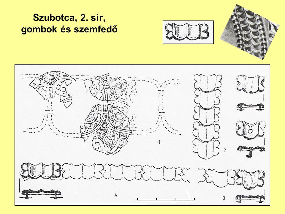 Szubotca, 2. sír, gombok és szemfedő