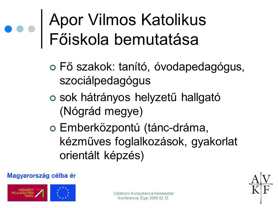Apor Vilmos Katolikus Főiskola bemutatása