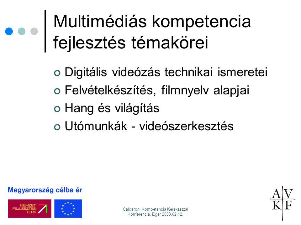 Multimédiás kompetencia fejlesztés témakörei