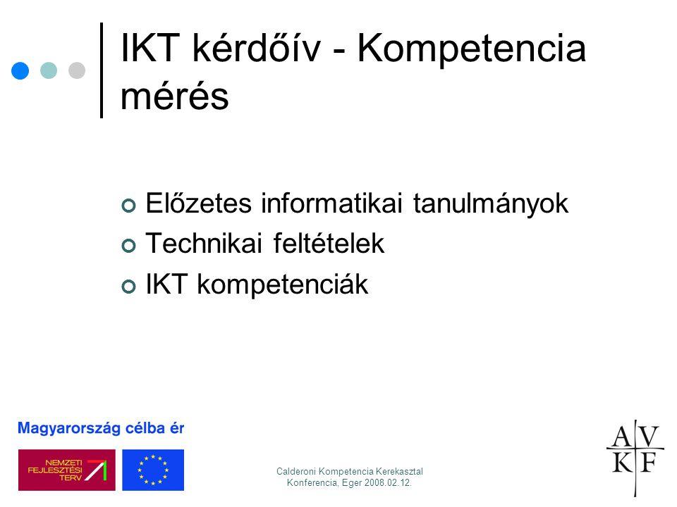 IKT kérdőív - Kompetencia mérés