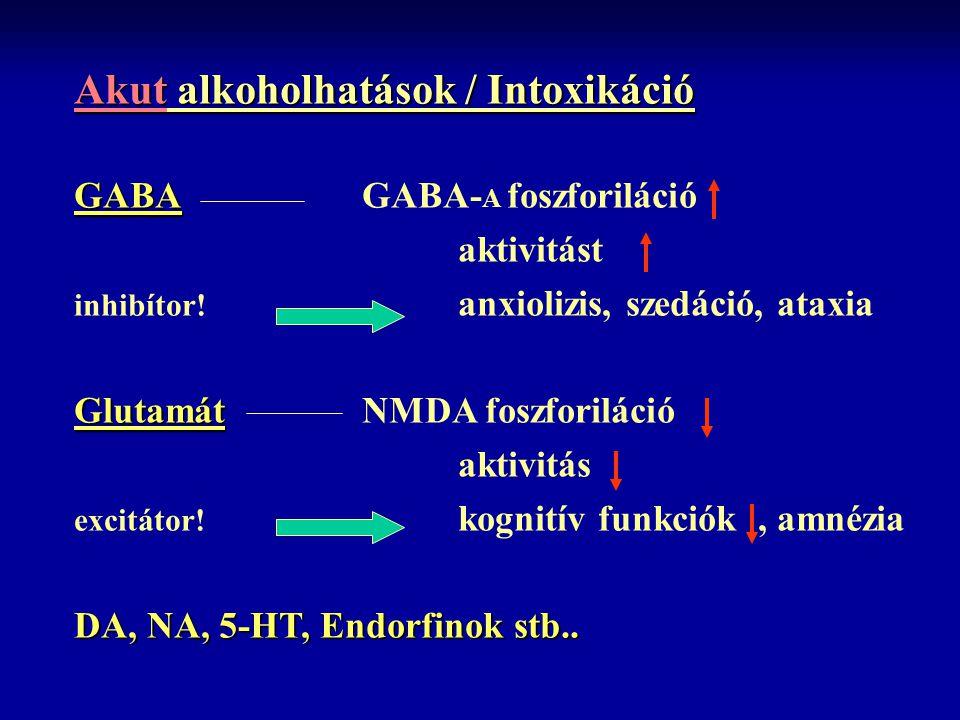 Akut alkoholhatások / Intoxikáció