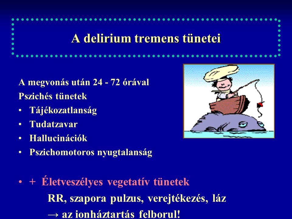A delirium tremens tünetei