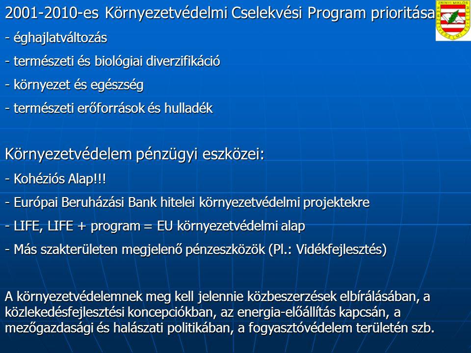 2001-2010-es Környezetvédelmi Cselekvési Program prioritásai: