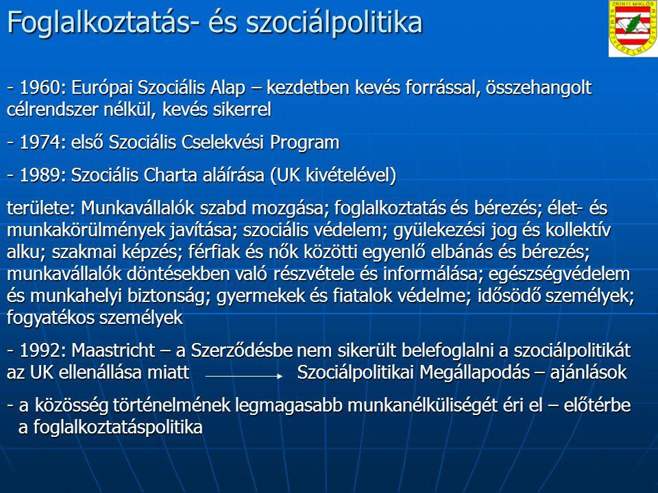 Foglalkoztatás- és szociálpolitika