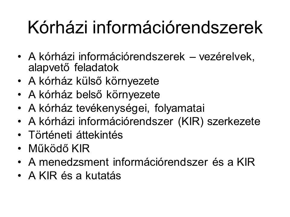 Kórházi információrendszerek