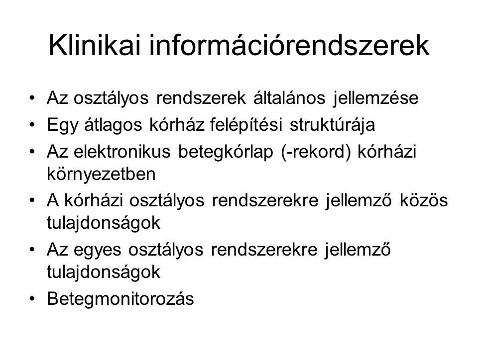 Klinikai információrendszerek