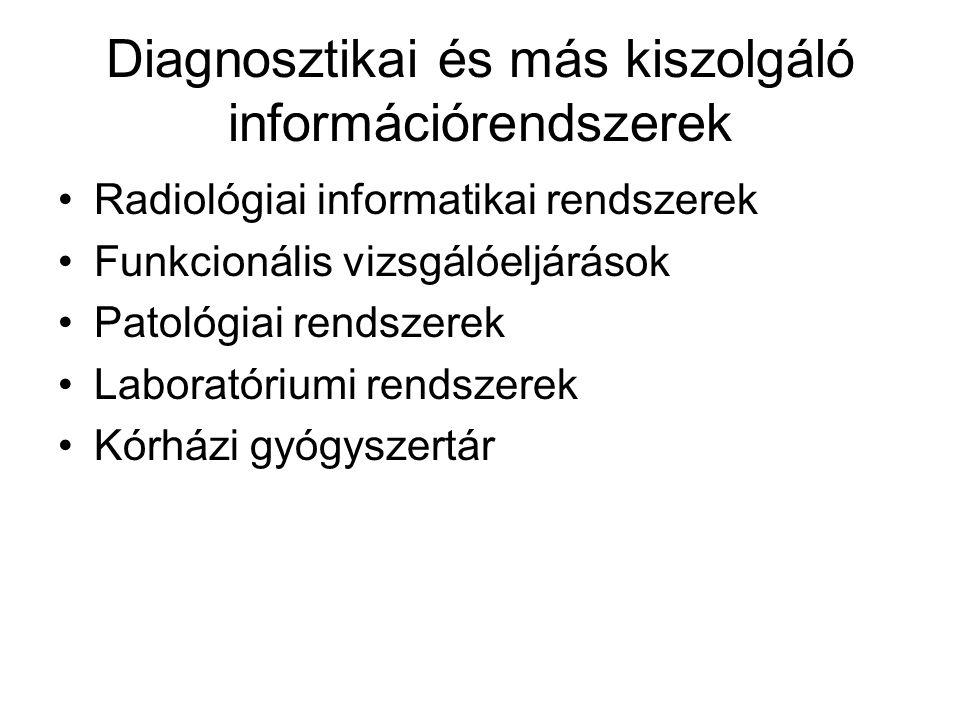 Diagnosztikai és más kiszolgáló információrendszerek