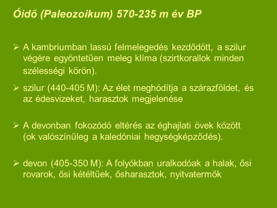 Óidő (Paleozoikum) 570-235 m év BP