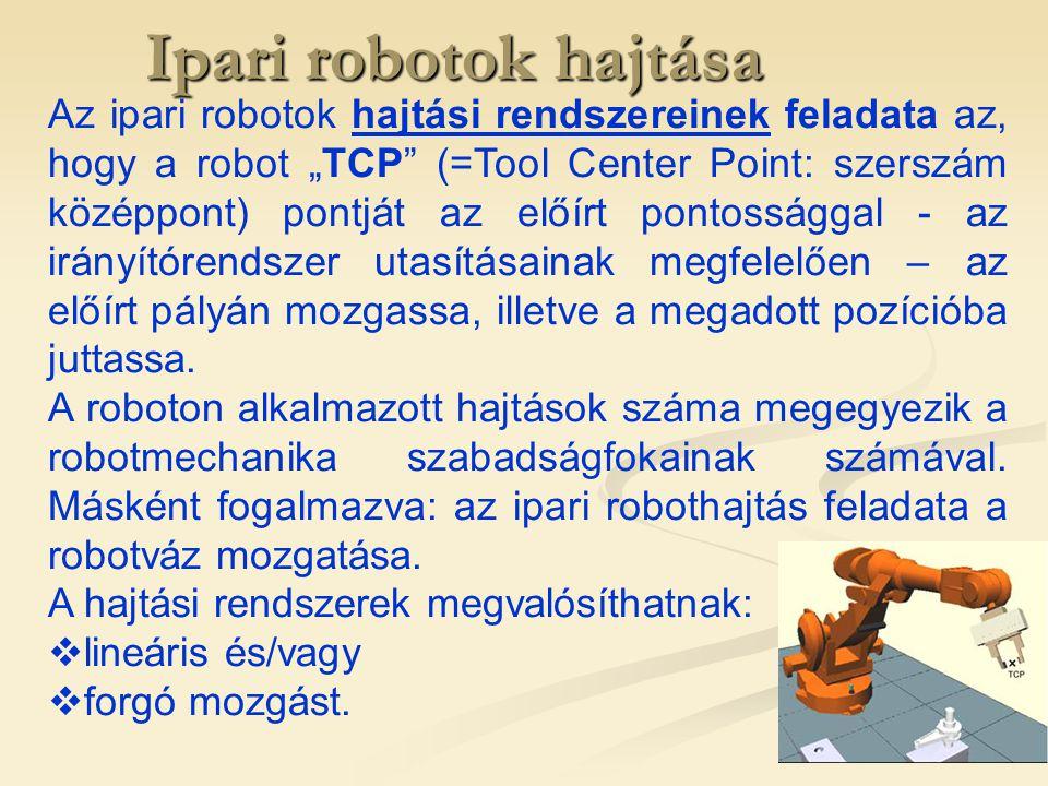 Ipari robotok hajtása