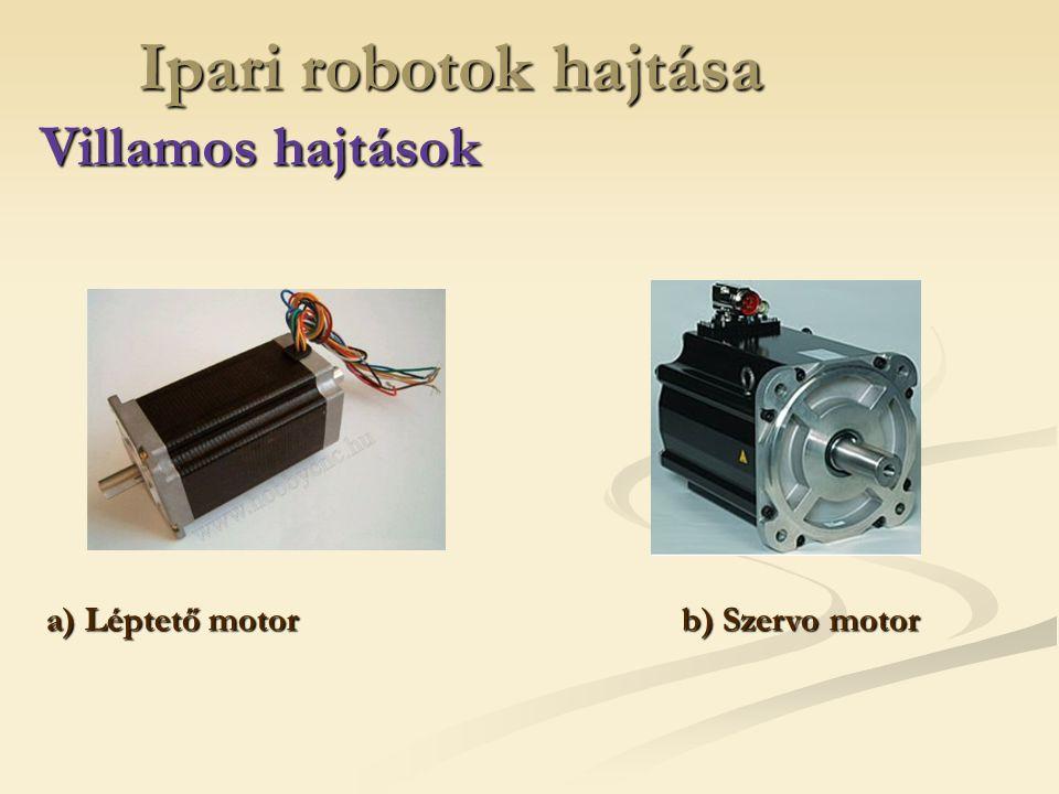 Ipari robotok hajtása Villamos hajtások