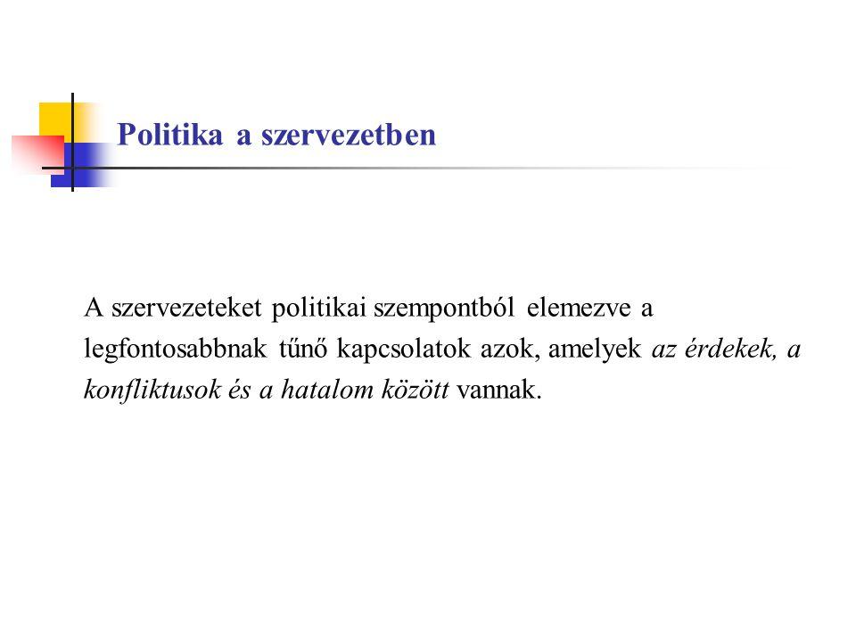 Politika a szervezetben
