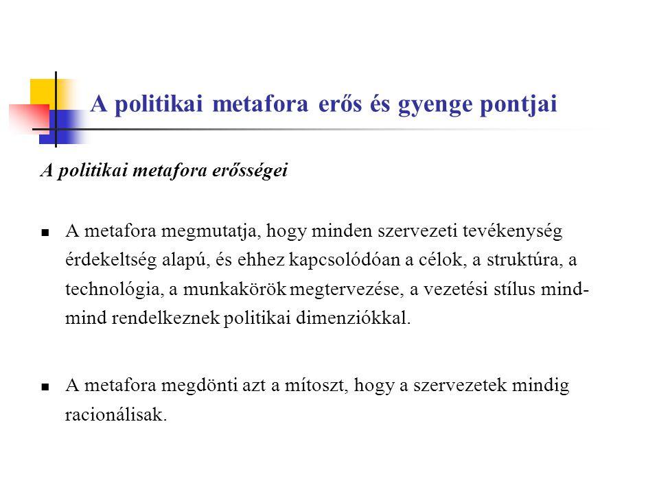 A politikai metafora erős és gyenge pontjai