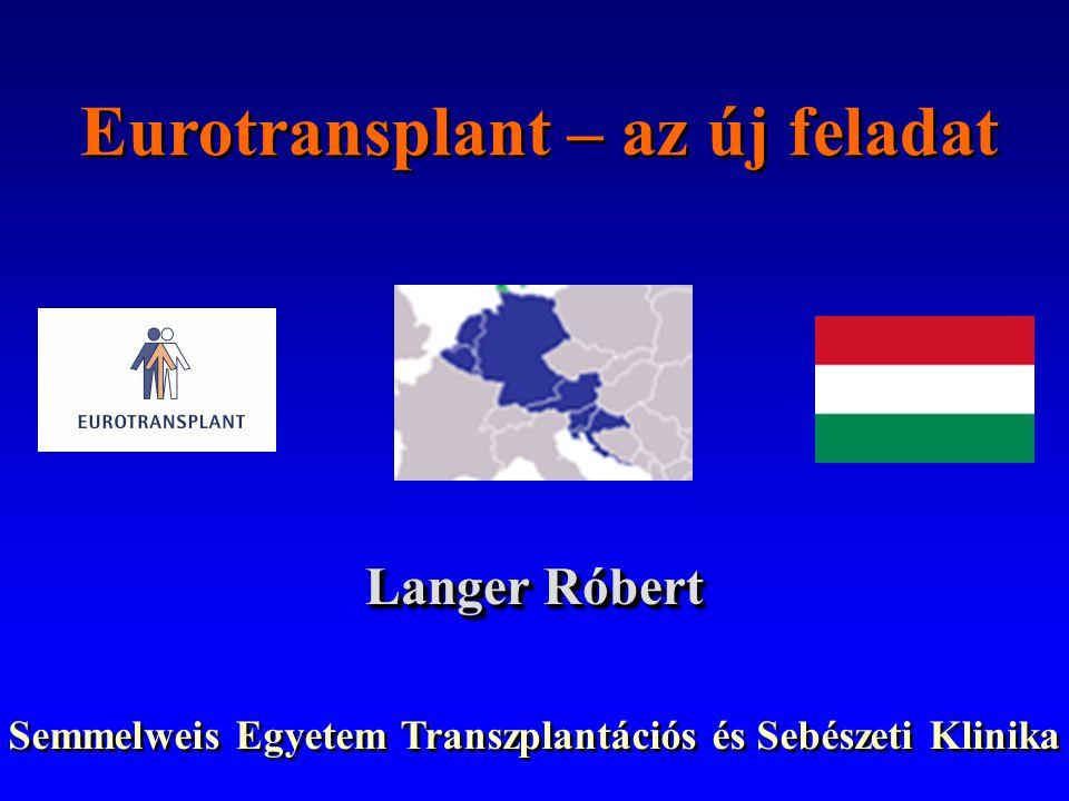 Eurotransplant – az új feladat
